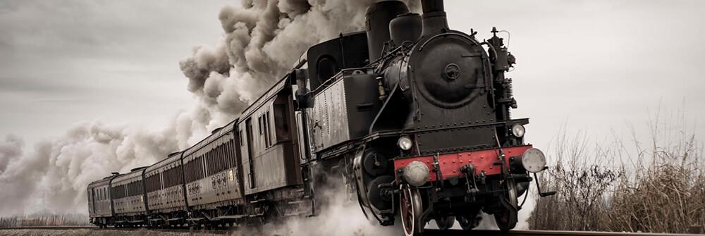 Papier peint trains