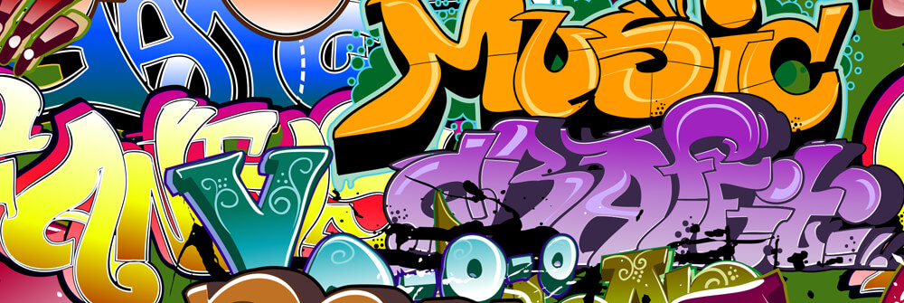 Papier Peint Panoramique graffiti