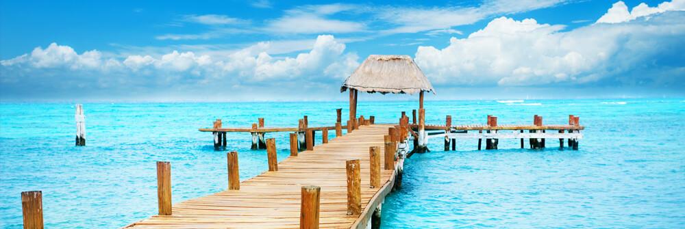 Papier Peint Panoramique - jetées dans la mer