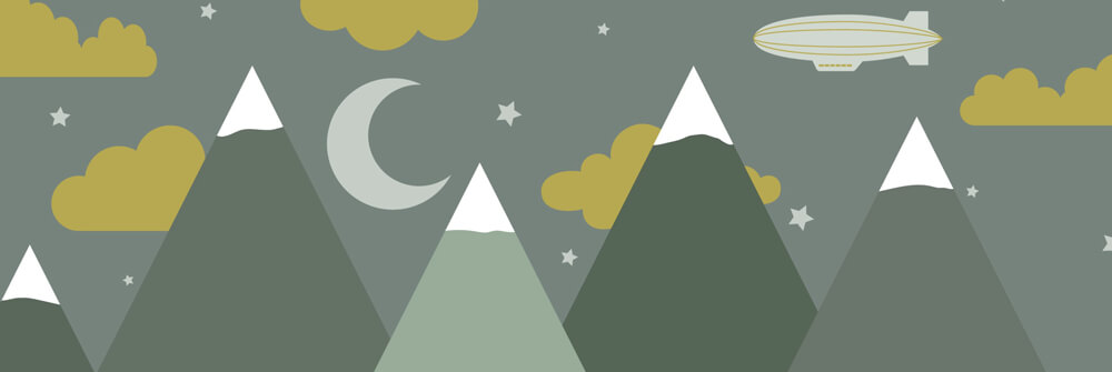 Papier Peint Panoramique enfant avec montagnes