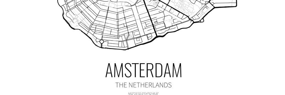 Papier peint avec plan de ville & carte routière