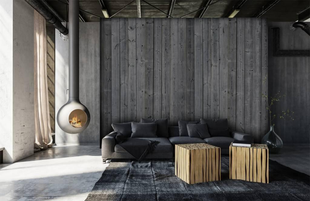 Papier peint bois - Planches de bois en 3D - Chambre à coucher 2