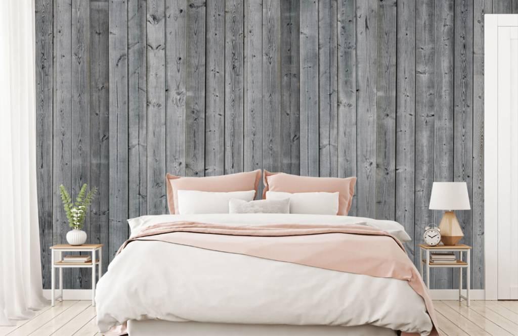 Papier peint bois - Planches de bois en 3D - Chambre à coucher 3