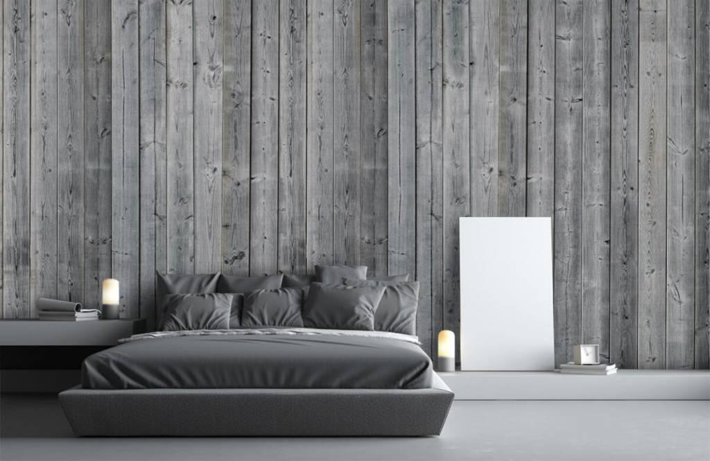 Papier peint bois - Planches de bois en 3D - Chambre à coucher 4