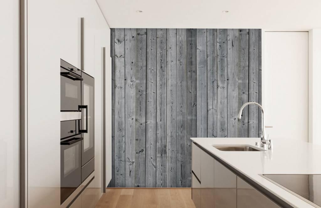 Papier peint bois - Planches de bois en 3D - Chambre à coucher 5