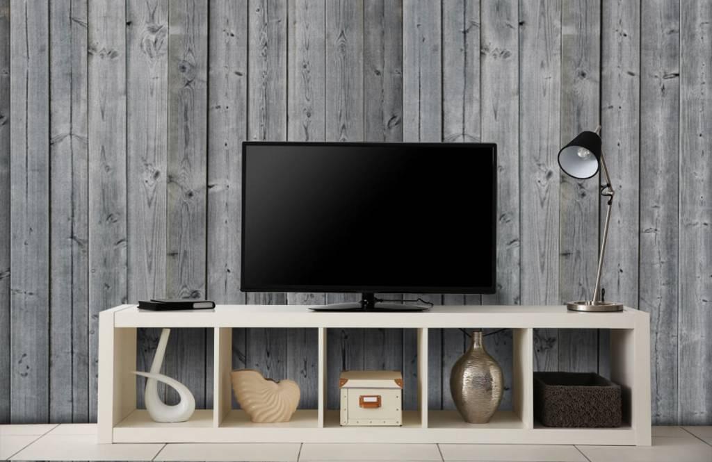 Papier peint bois - Planches de bois en 3D - Chambre à coucher 6