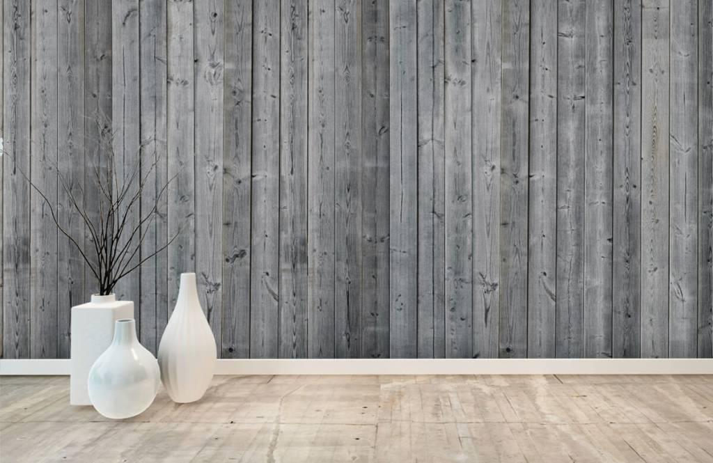 Papier peint bois - Planches de bois en 3D - Chambre à coucher 8
