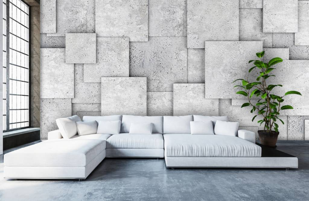 Divers - Carreaux carrés en 3D - Chambre à coucher 1