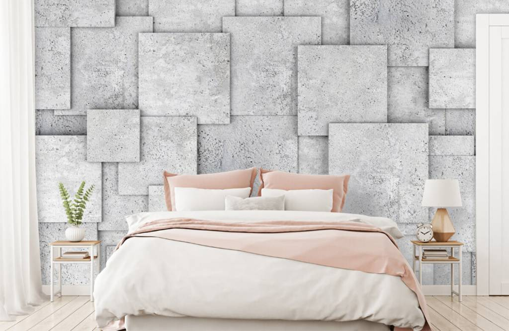 Divers - Carreaux carrés en 3D - Chambre à coucher 2