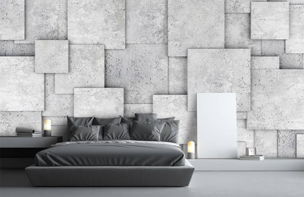 Divers - Carreaux carrés en 3D - Chambre à coucher 3