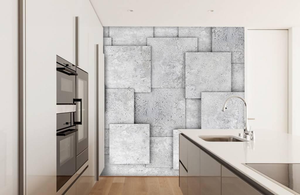 Divers - Carreaux carrés en 3D - Chambre à coucher 4
