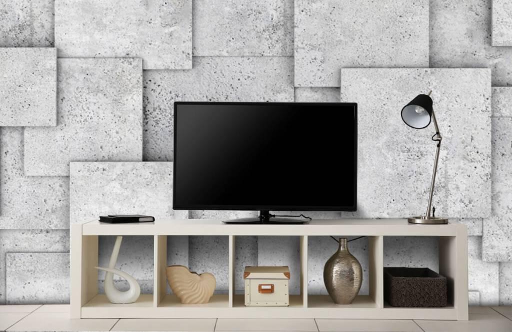 Divers - Carreaux carrés en 3D - Chambre à coucher 5