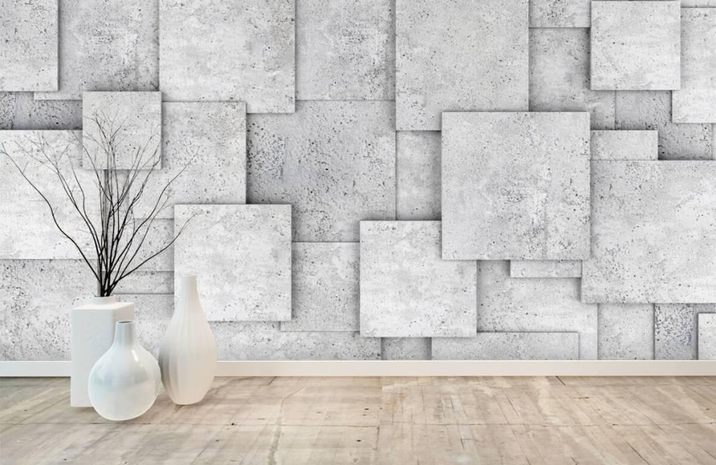 Divers - Carreaux carrés en 3D - Chambre à coucher 8