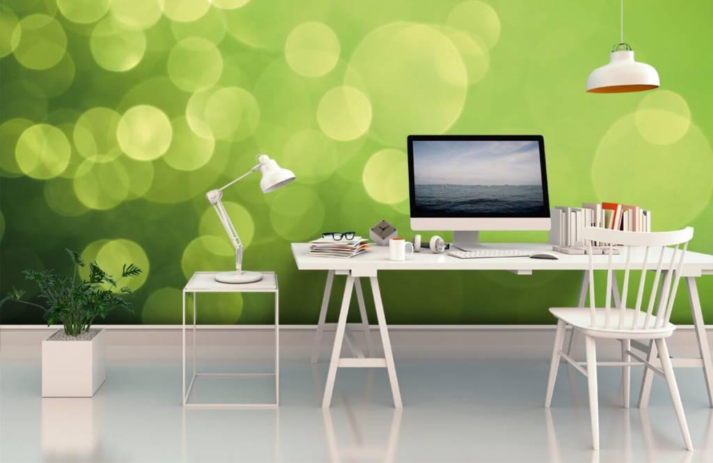 Abstrait - Cercle vert abstrait - Réception 1