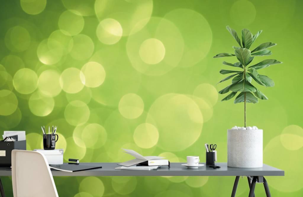 Abstrait - Cercle vert abstrait - Réception 2