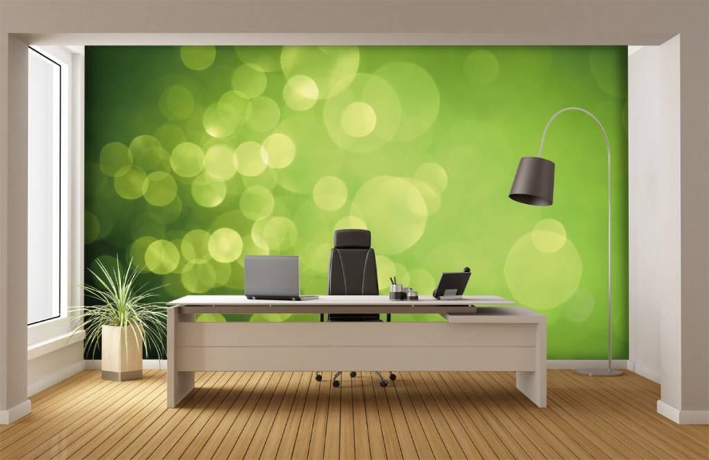 Abstrait - Cercle vert abstrait - Réception 3