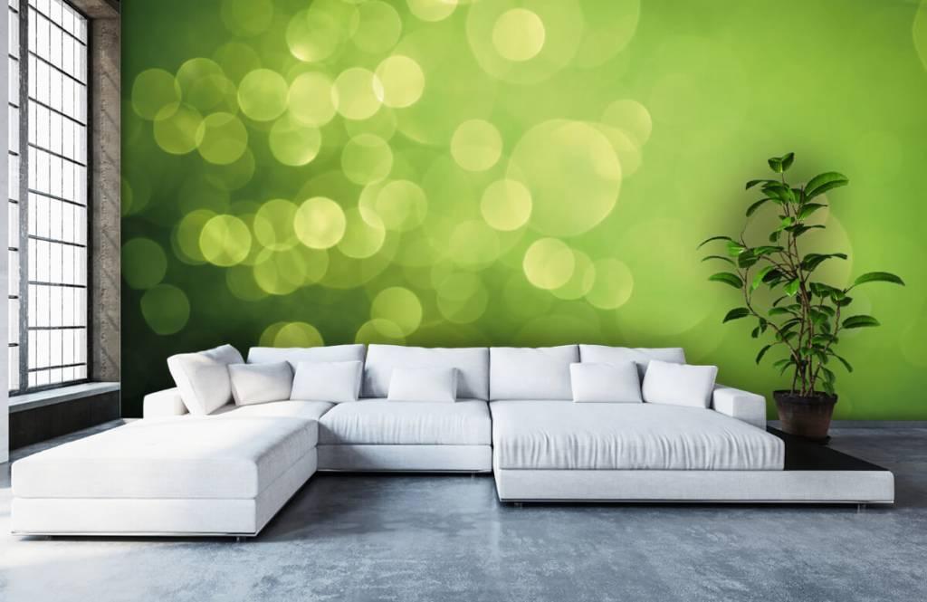 Abstrait - Cercle vert abstrait - Réception 5