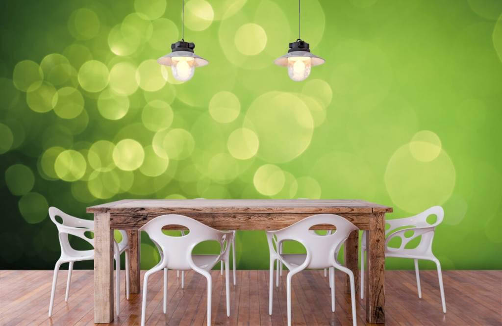Abstrait - Cercle vert abstrait - Réception 6