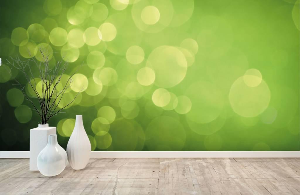Abstrait - Cercle vert abstrait - Réception 7