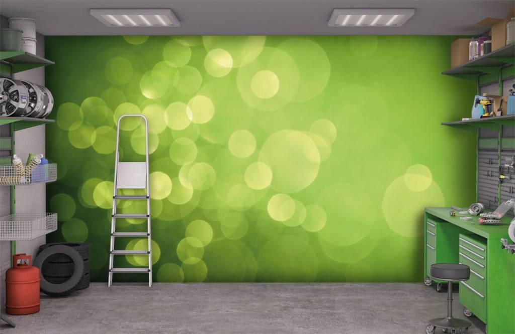 Abstrait - Cercle vert abstrait - Réception 9