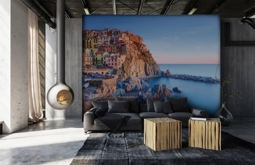 Papier peint Villes - Village sur un rocher en Italie - Chambre à coucher 6
