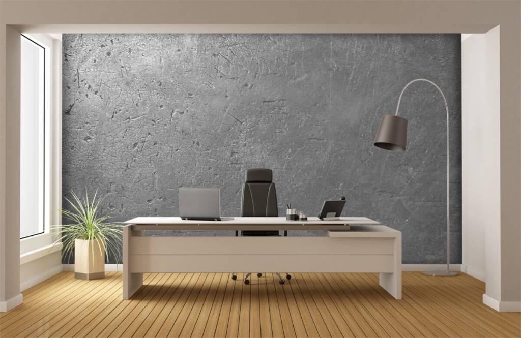 Papier peint aspect béton - Mur en béton gris - Chambre d'adolescent 3