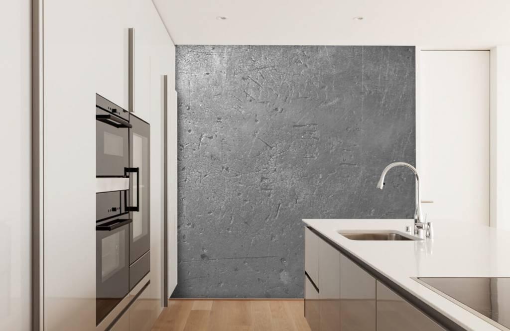 Papier peint aspect béton - Mur en béton gris - Chambre d'adolescent 4