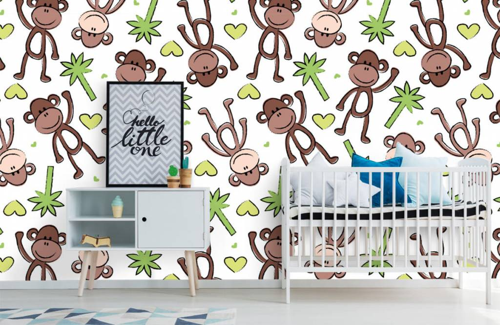 Animaux aquatiques - Singes et palmiers - Chambre d'enfants 1