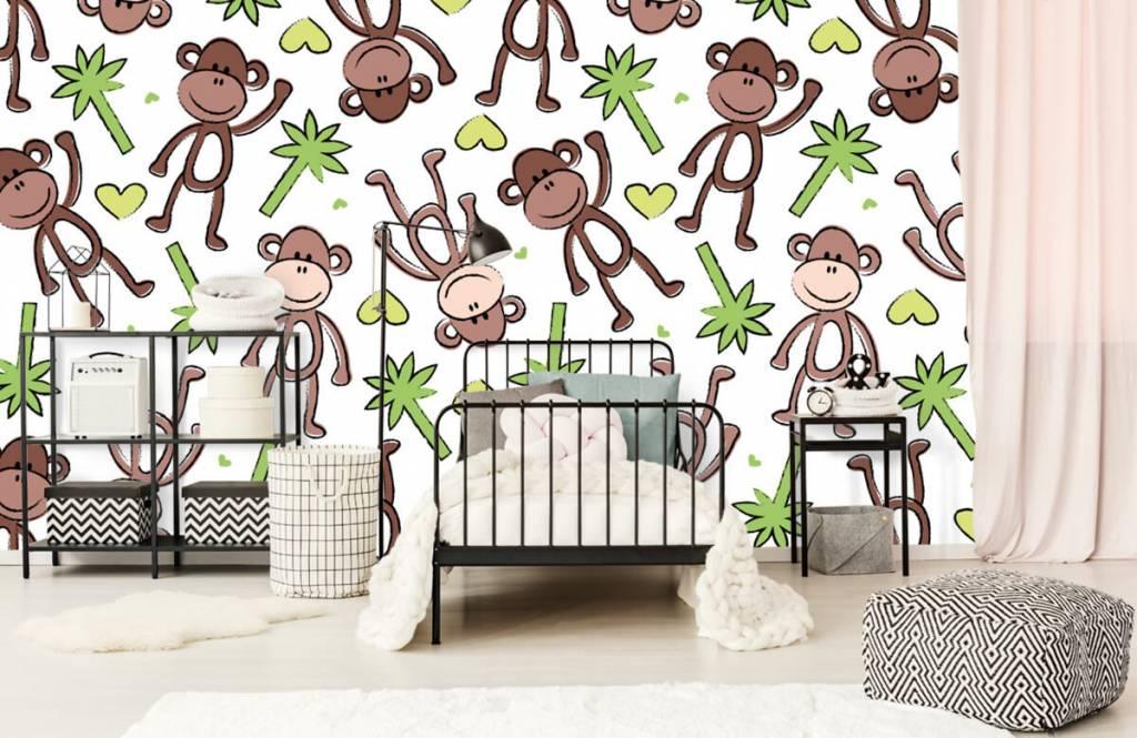 Animaux aquatiques - Singes et palmiers - Chambre d'enfants 2