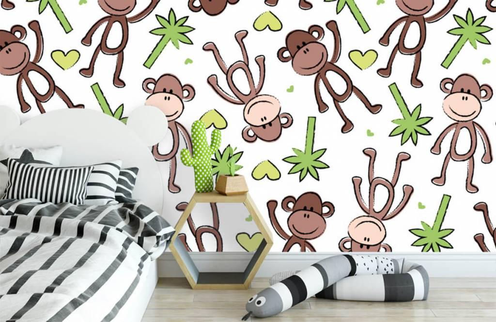 Animaux aquatiques - Singes et palmiers - Chambre d'enfants 3