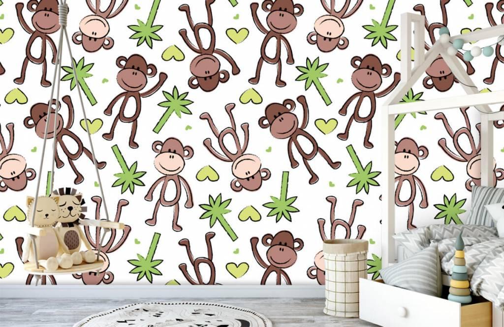 Animaux aquatiques - Singes et palmiers - Chambre d'enfants 4