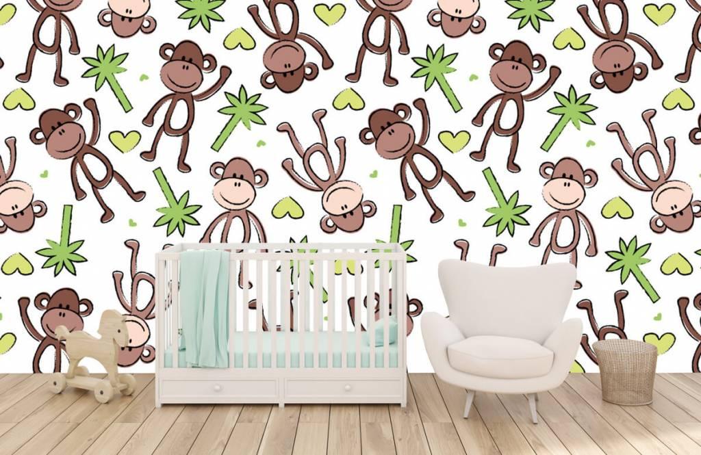 Animaux aquatiques - Singes et palmiers - Chambre d'enfants 6