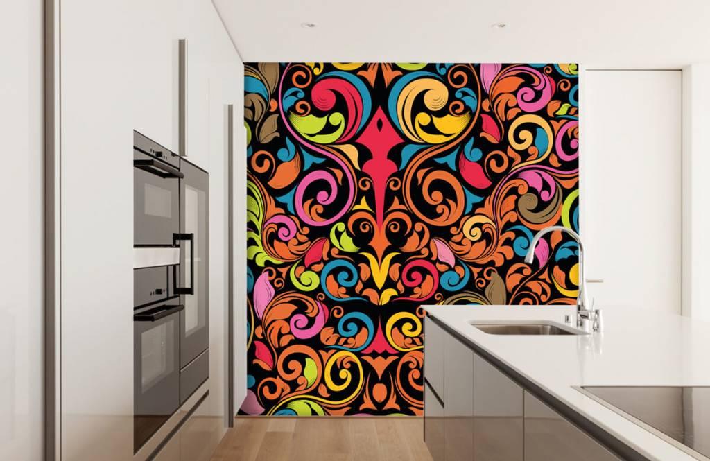 Abstrait - Figures abstraites colorées - Cuisine 4