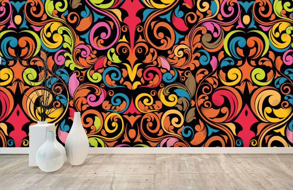Abstrait - Figures abstraites colorées - Cuisine 8