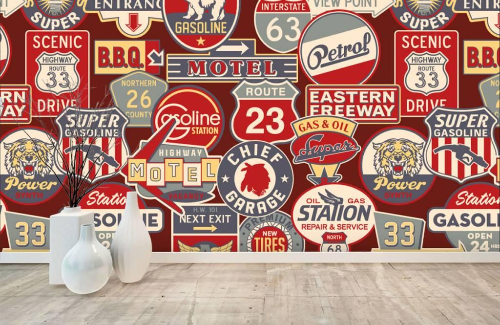 Papier peint texte - Panneaux publicitaires américains - Chambre d'enfants 7