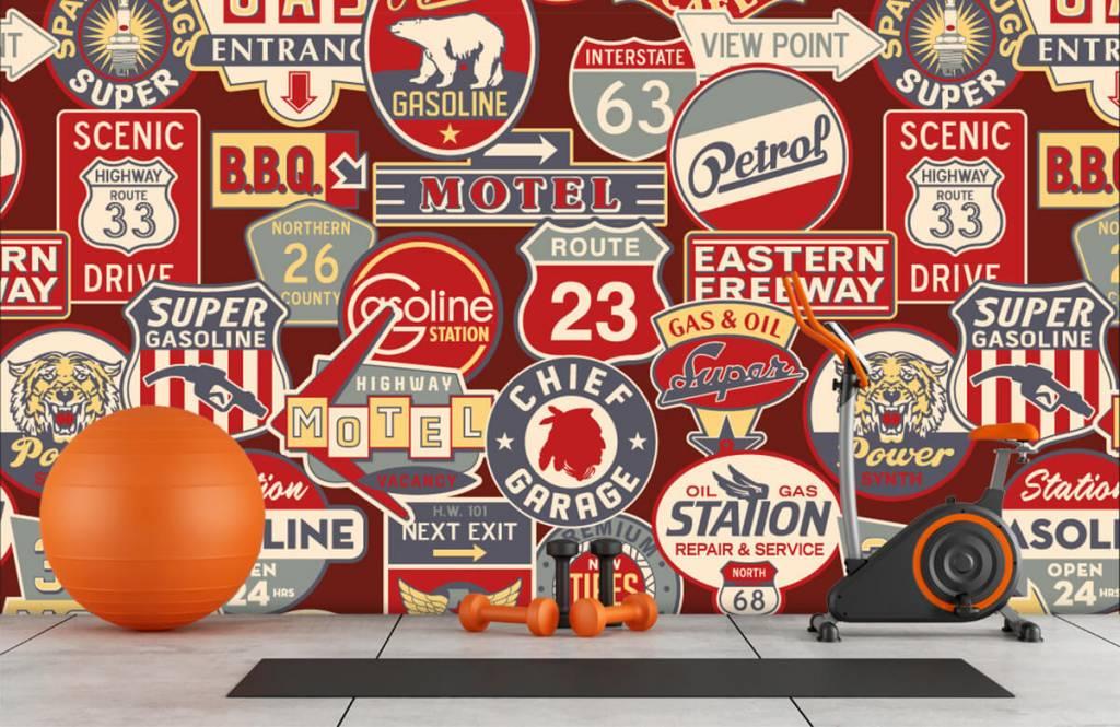 Papier peint texte - Panneaux publicitaires américains - Chambre d'enfants 8