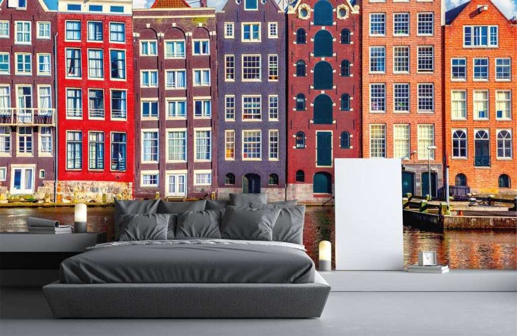 Papier peint Villes - Maisons d'Amsterdam - Chambre à coucher 3
