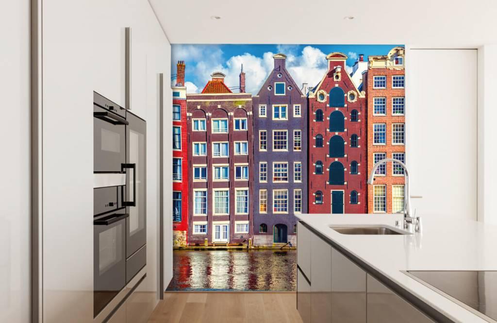 Papier peint Villes - Maisons d'Amsterdam - Chambre à coucher 4