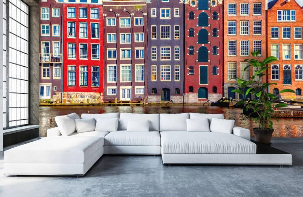 Papier peint Villes - Maisons d'Amsterdam - Chambre à coucher 6