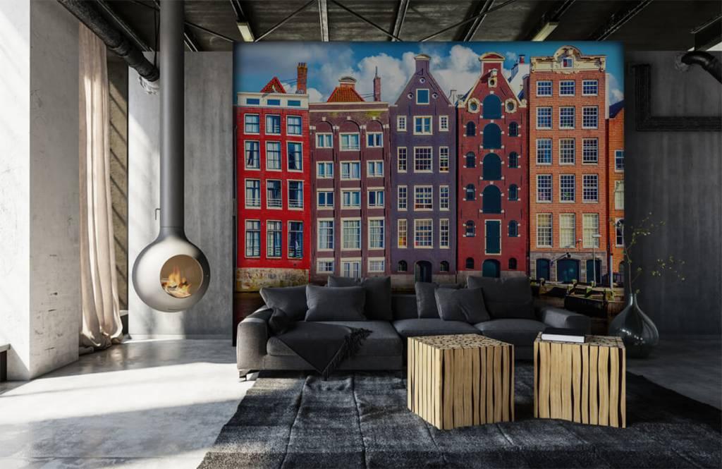 Papier peint Villes - Maisons d'Amsterdam - Chambre à coucher 7