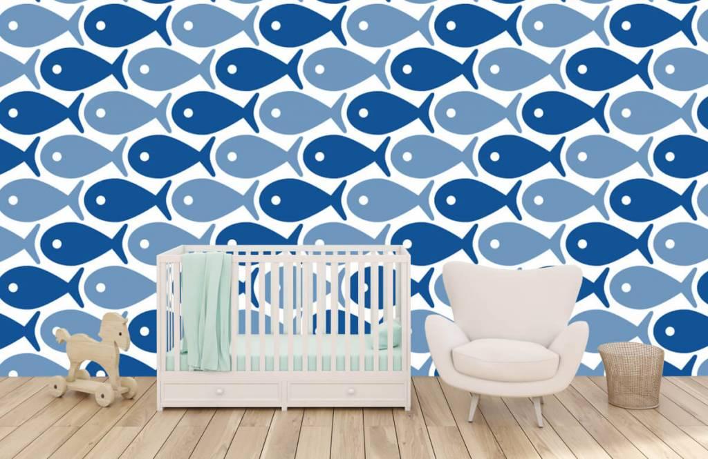 Animaux aquatiques - Poisson bleu - Chambre d'enfants 1