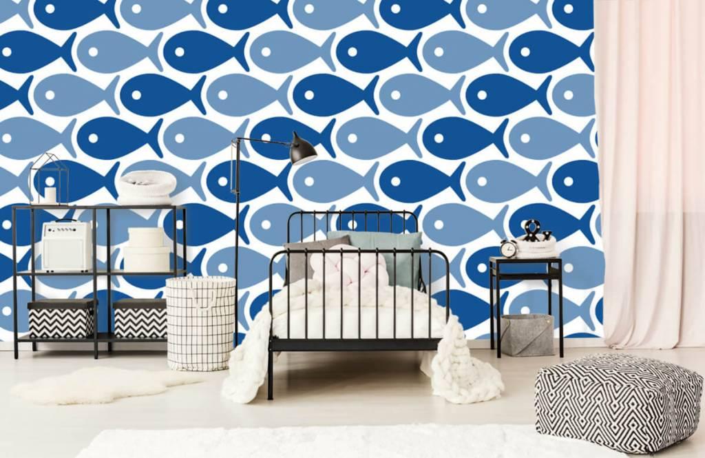 Animaux aquatiques - Poisson bleu - Chambre d'enfants 2