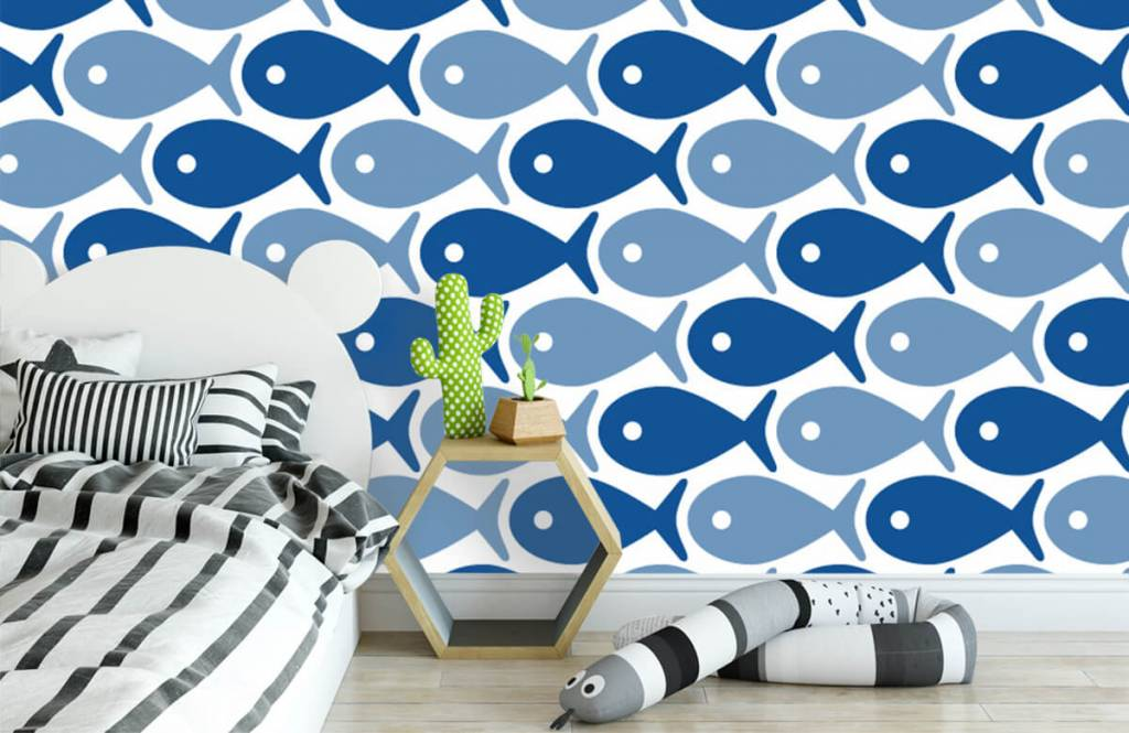 Animaux aquatiques - Poisson bleu - Chambre d'enfants 3