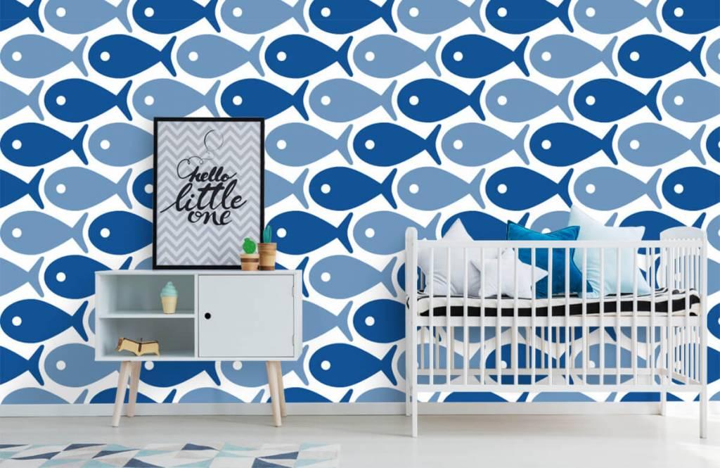 Animaux aquatiques - Poisson bleu - Chambre d'enfants 6