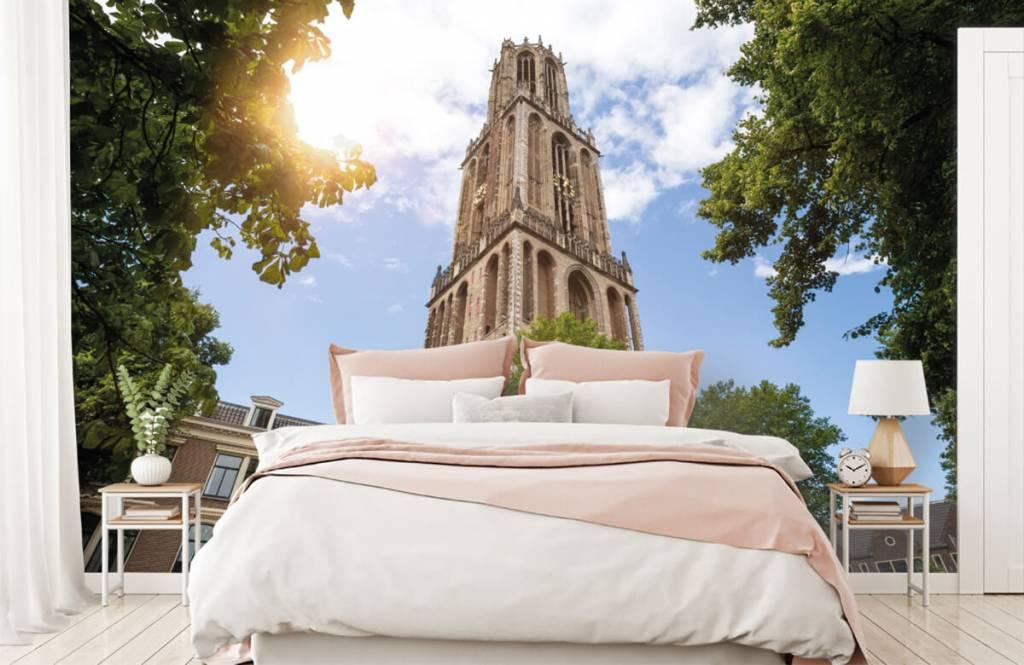 Papier peint Villes - Tour Dom à Utrecht - Chambre à coucher 2