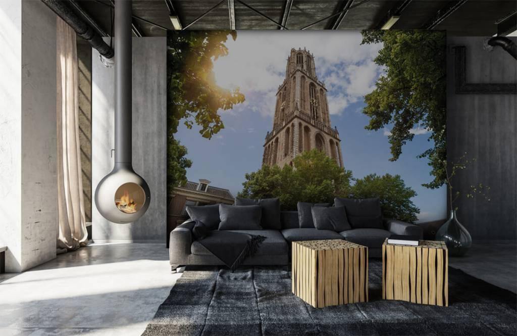 Papier peint Villes - Tour Dom à Utrecht - Chambre à coucher 6