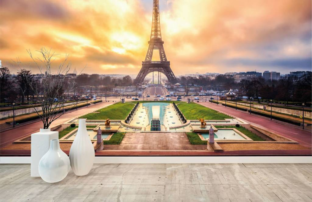 Papier peint Villes - Tour Eiffel - Chambre à coucher 1