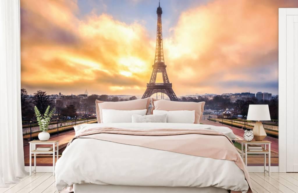Papier peint Villes - Tour Eiffel - Chambre à coucher 2