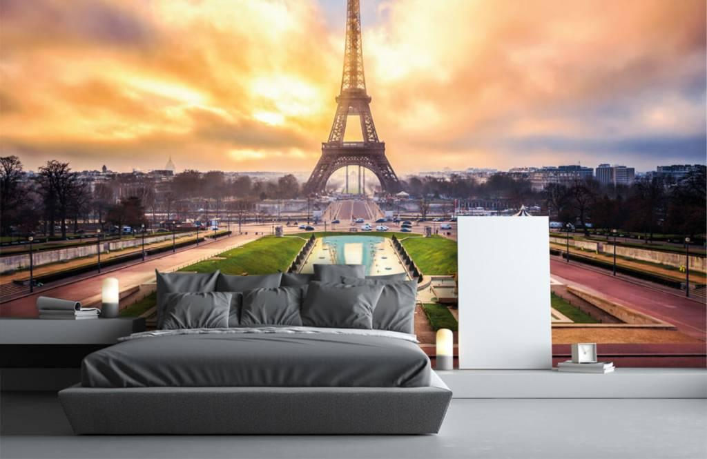 Papier peint Villes - Tour Eiffel - Chambre à coucher 3