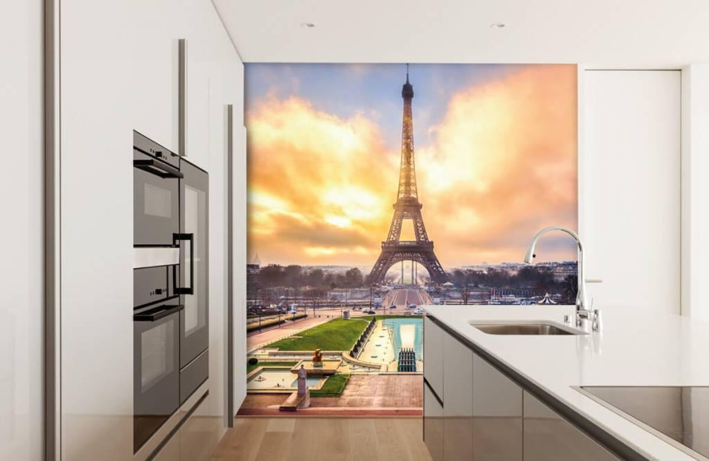 Papier peint Villes - Tour Eiffel - Chambre à coucher 4
